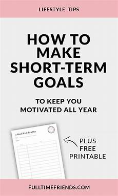 Short Term Work Goals How To Make Short Term Goals To Keep You Motivated All
