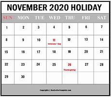 November 2020 Calendar Printable Free Printable November 2020 Calendar Template In Pdf