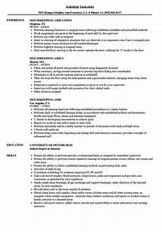 Housekeeping Aide Resume Housekeeping Aide Resume Samples Velvet Jobs