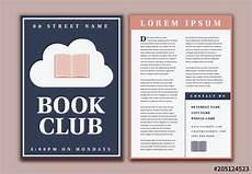Book Flyers Examples Book Club Flyer Layout Buy This Stock Template And