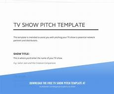 Tv Template How To Pitch A Tv Show And Develop Tv Show Ideas With