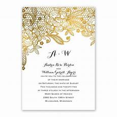 Free Invitations Gold Lace Invitation With Free Response Postcard S