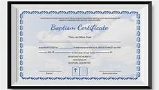 Christening Certificate 27 Sample Baptism Certificate Templates Free Sample