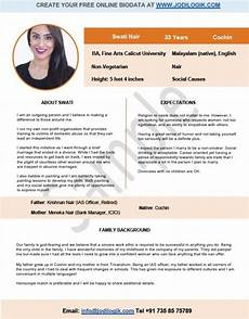 Biodata Format For Marriage For Girl In English Pdf Biodata Format For Marriage 15 Templates 7 Samples