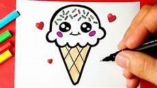 como desenhar sorvete de casquinha kawaii desenhos kawaii