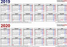 2020 16 Year Calendar Two Year Calendars For 2019 Amp 2020 Uk For Pdf