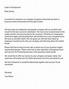 Formal Letters Introduction Letter Of Introduction Template 15 Introduction Letter