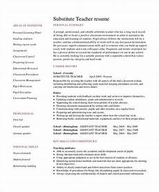 Resume For Teaching Position Template Teacher Resume Examples 26 Free Word Pdf Documents