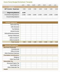 Yearly Expenses Spreadsheet 5 Yearly Budget Templates Word Excel Pdf Free