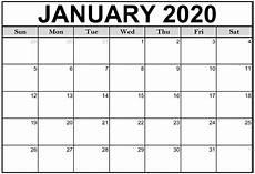 January Editable Calendar 2020 2020 Calendar You Can Edit Calendar Printables Free