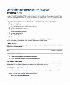 Request A Recommendation Letter Free 32 Sample Letters Of Recommendation For Scholarship
