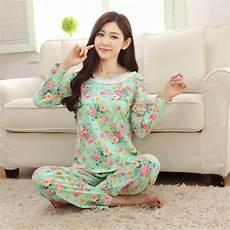 autumn winter womens pajama sets o neck sleeve