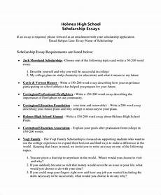 High School Sample Essay Free 7 Sample Scholarship Essay Templates In Pdf Ms Word
