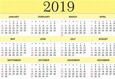 Yearly Calendar Template Word Free Yearly Calendar 2019 Printable Blank Templates