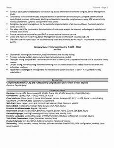 Database Management Resume Database Administrator Resume Example And Tips Zipjob