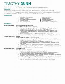 Sample Retail Cv Retail Cv Templates Cv Samples Amp Examples