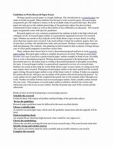 Research Paper Write Guidelines To Write Research Paper Essays