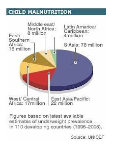 Pie Chart Of World Hunger Pie Chart To Highlight Child Malnutrition Malnutrition