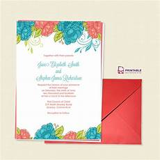 Pdf Invitations Free Pdf Download Summer Blooms Wedding Invitation For