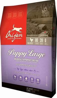 Grain Free Dog Food Comparison Chart Orijen Puppy Large Breed Grain Free Dry Dog Food 28 6 Lb