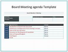 Board Meeting Templates Free Board Meeting Agenda Template Easy Agendas