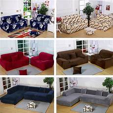 thick plush stretch fit sectional l shaped sofa slip