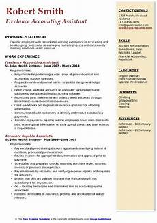 Accounts Assistant Cv Example Accounting Assistant Resume Samples Qwikresume