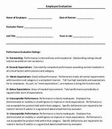 Free Printable Employee Evaluation Template 12 Employee Evaluation Templates Word Apple Pages