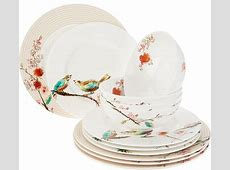 Lenox Chirp 12 Piece Bone China Dinnerware Set ? QVC.com