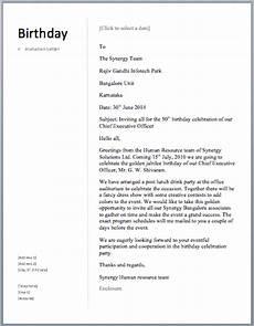 Birthday Invitation Letter Birthday Invitation Letter Free Sample Letters