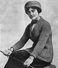 vintage sweater knitting pattern