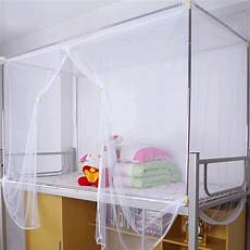 white four corner post canopy bed mosquito net