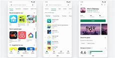play store gets a total redesign on android and