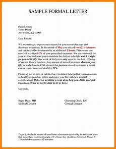 Formal Letter Format Template Sample Formal Letter