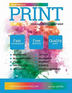 Free Printable Flyer Creator Free Print Shop Flyer Template In Adobe Photoshop