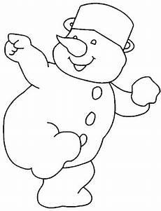 schneemann wirft schneeball ausmalbild malvorlage