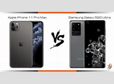 Compare Apple iPhone 11 Pro Max vs Samsung Galaxy S20