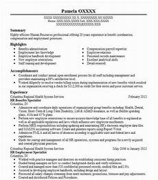 Human Resource Resume Objective Hr Benefits Specialist Objectives Resume Objective