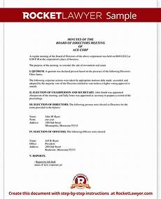 Sample Of Corporate Minutes Corporate Minutes Corporate Minutes Template With Sample