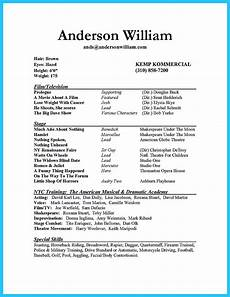 What Is A Job Resume Impressive Actor Resume Sample To Make