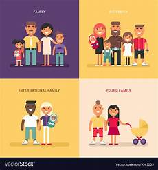 Family Structure Family Concept Family Structure Size Members Vector Image