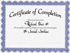 Certificates Templates Free Printable Certificates Of Completion Template