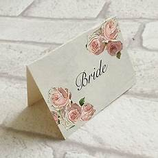 Pink Place Cards Wedding Table Guest Place Name Cards Pink Rose Vintage