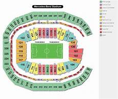 Seating Chart Mercedes Benz Atlanta United Mercedes Benz Stadium Seating Guide Front Row Seats