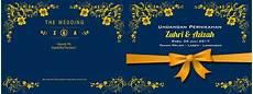 undangan floral desain menarik harga termurah