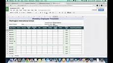 Timesheet Spreadsheet Template Tutorial Biweekly Timesheets Using Google Spreadsheets