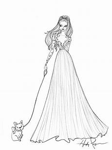 exclusive wedding dress sketches by designers hayley