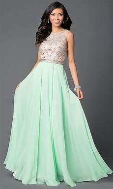 sleeveless floor length light green dress with