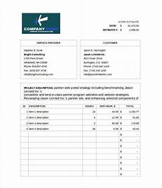 How To Create An Estimate 26 Blank Estimate Templates Pdf Doc Excel Odt Free