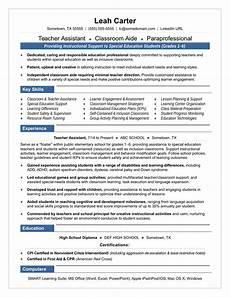 Resume Sample For Teaching Position Teacher Assistant Resume Sample Monster Com